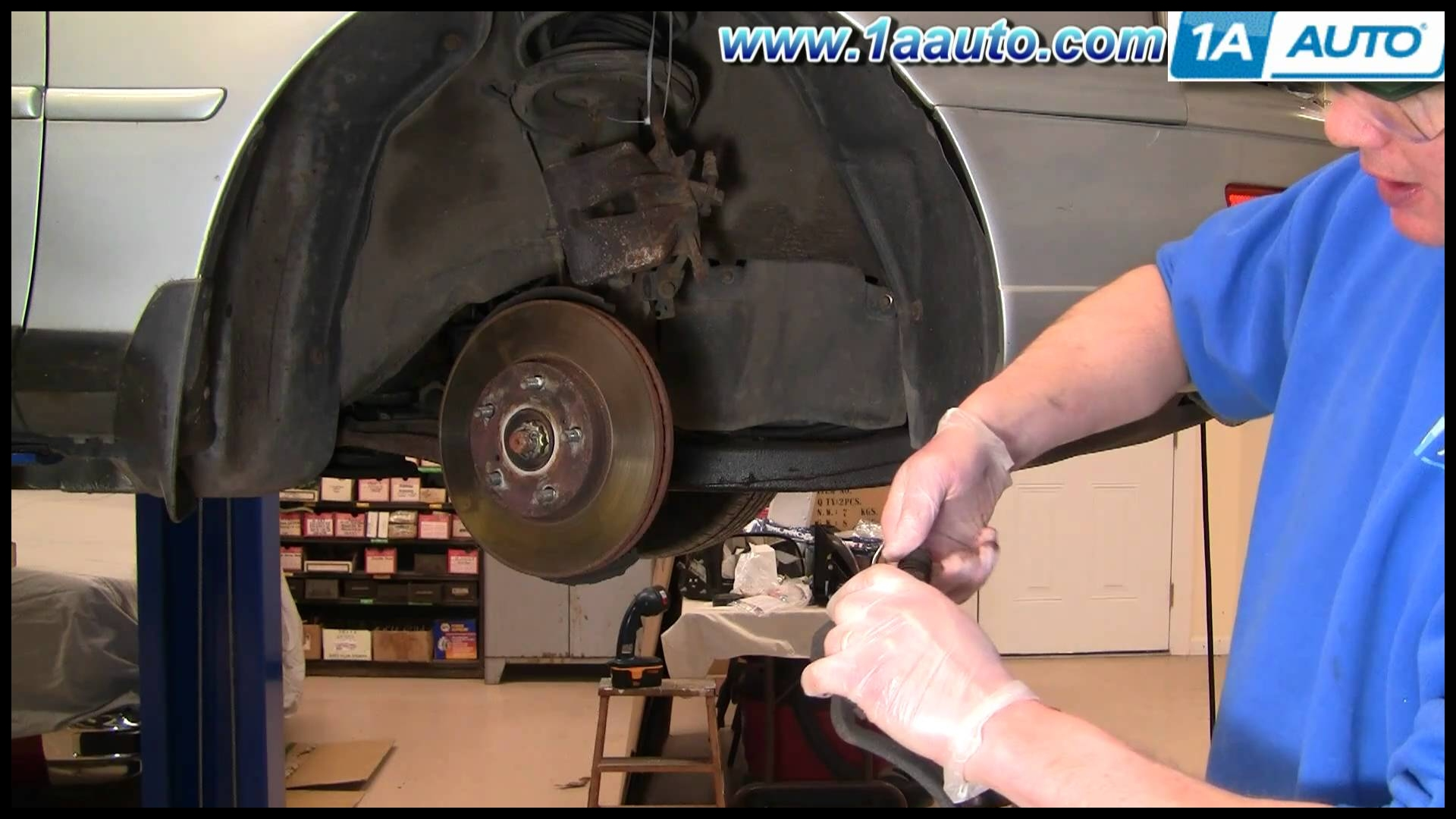 How to Install Replace Front Disc Brake Pads Rotors Toyota Camry 92 96 1AAuto