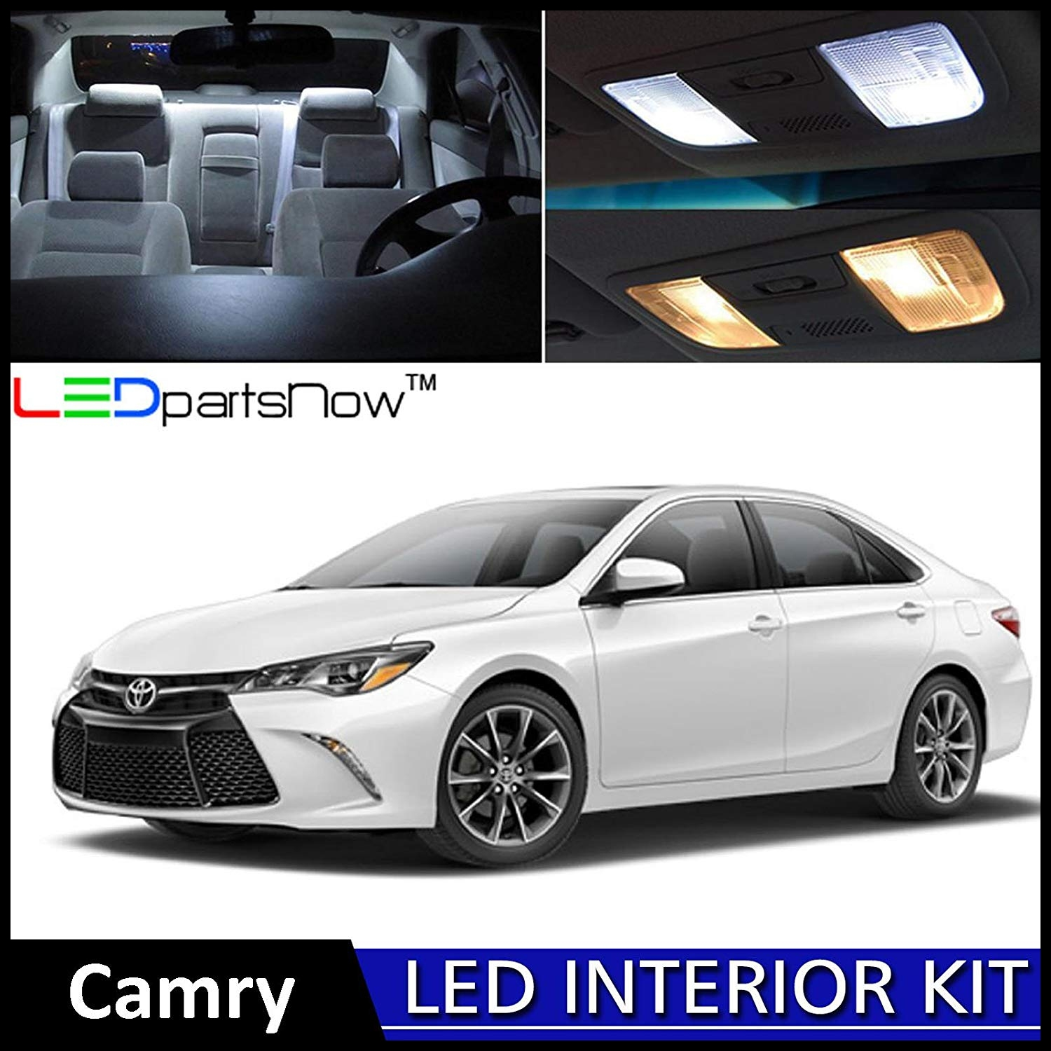 Amazon LEDpartsNow 2015 2018 Toyota Camry LED Interior Lights Accessories Replacement Package Kit 12 Pieces WHITE REVERSE LIGHTS Automotive