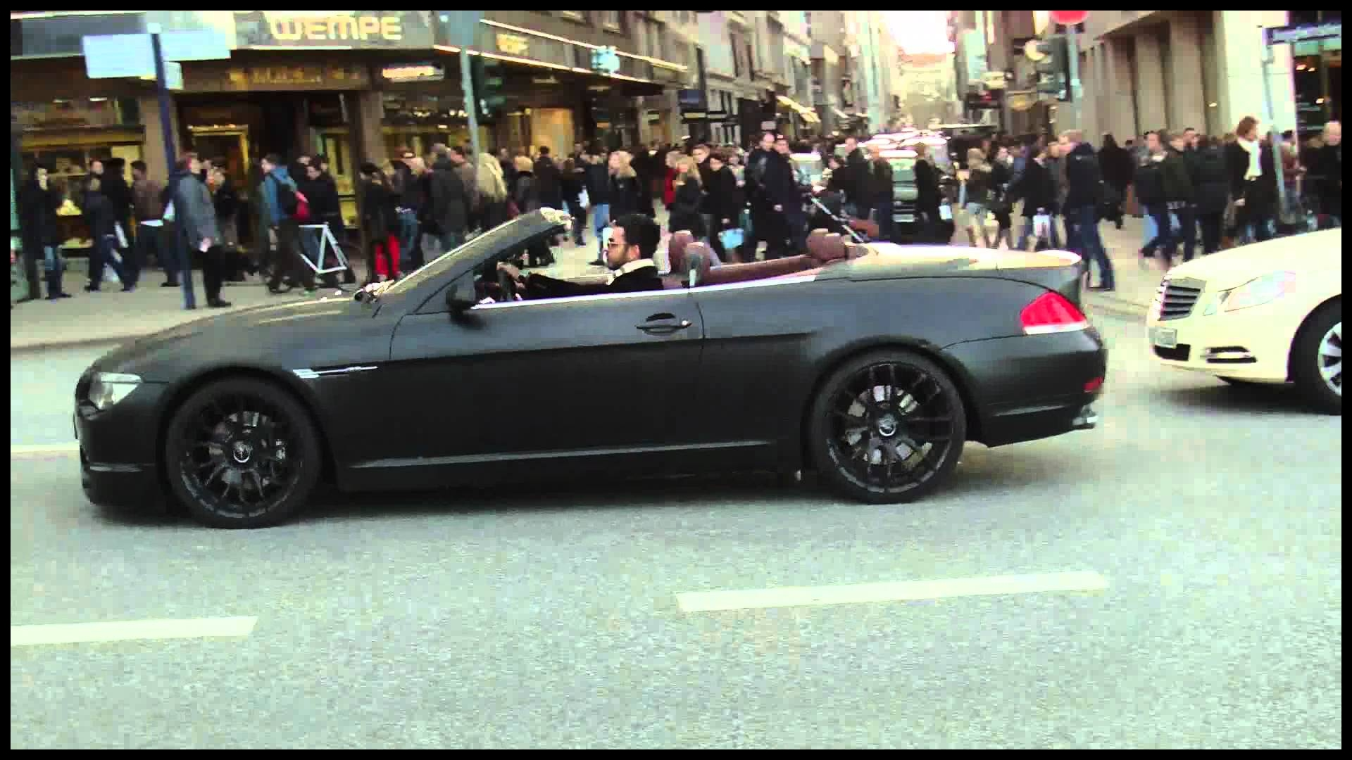 Straight Piped BMW 650i Matte Black LOUD Sound 1080p HD