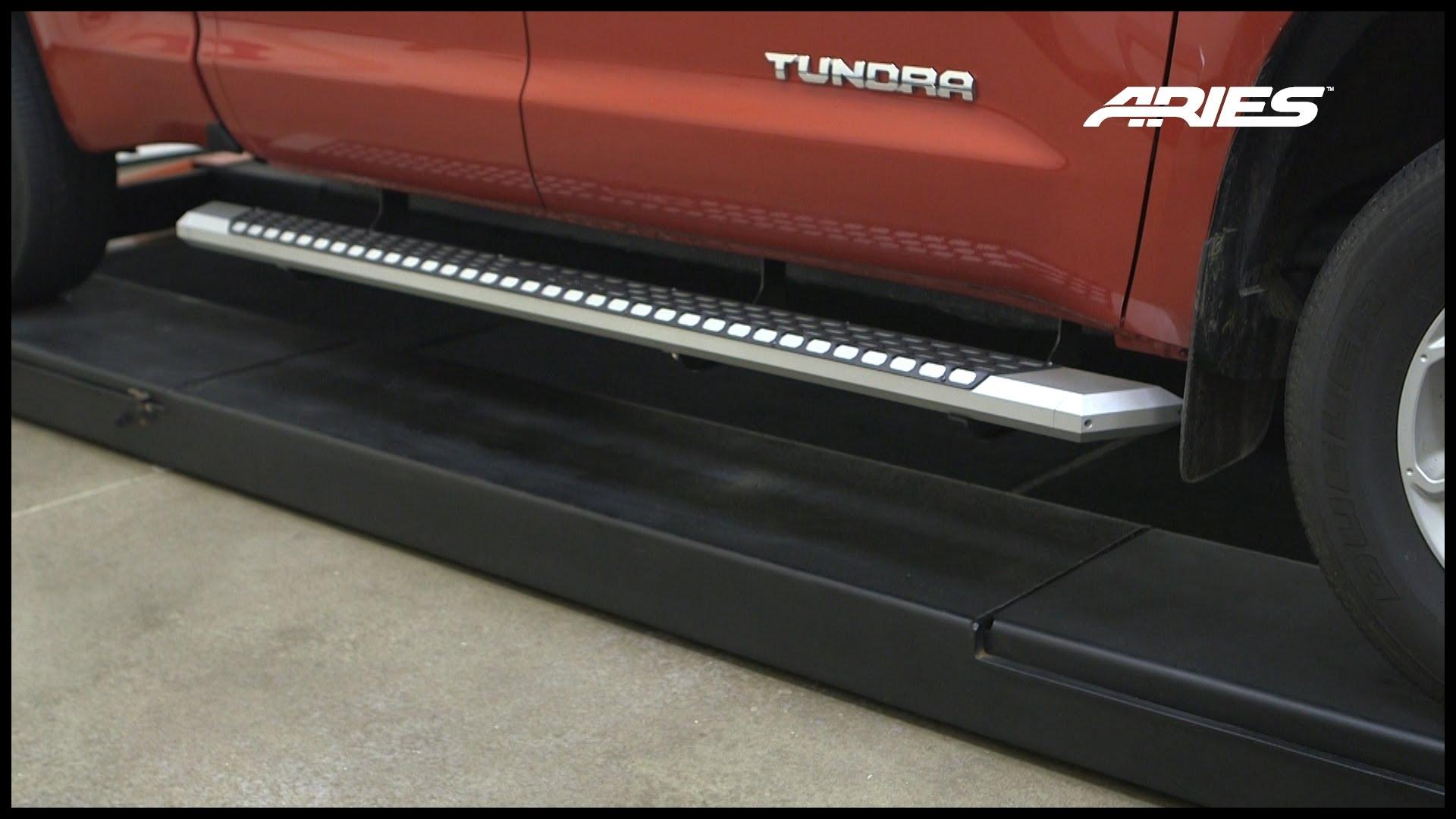 "ARIES AdvantEDGE™ Install 85"" Side Bars on Toyota Double Cab Bracket"