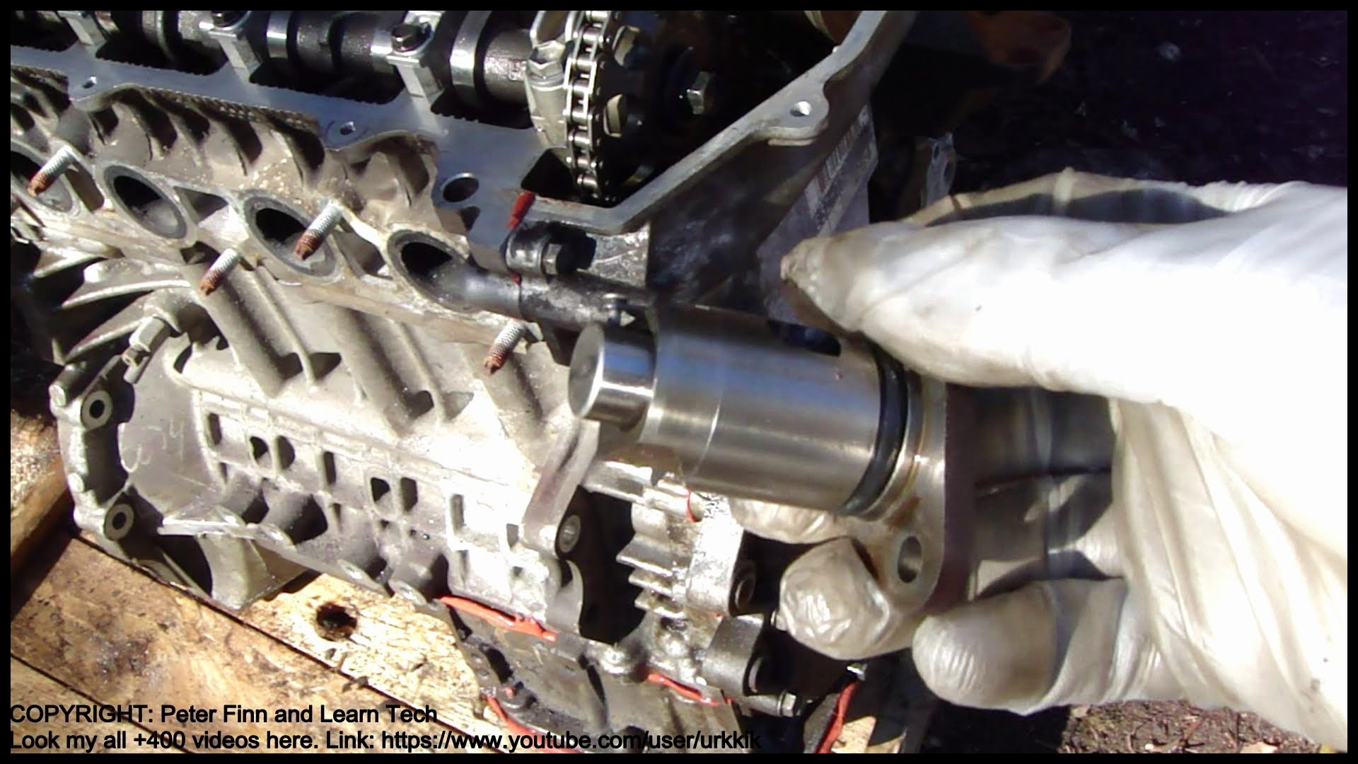 How to assemble engine VVT i Toyota Part 32 Tensioner timing chain