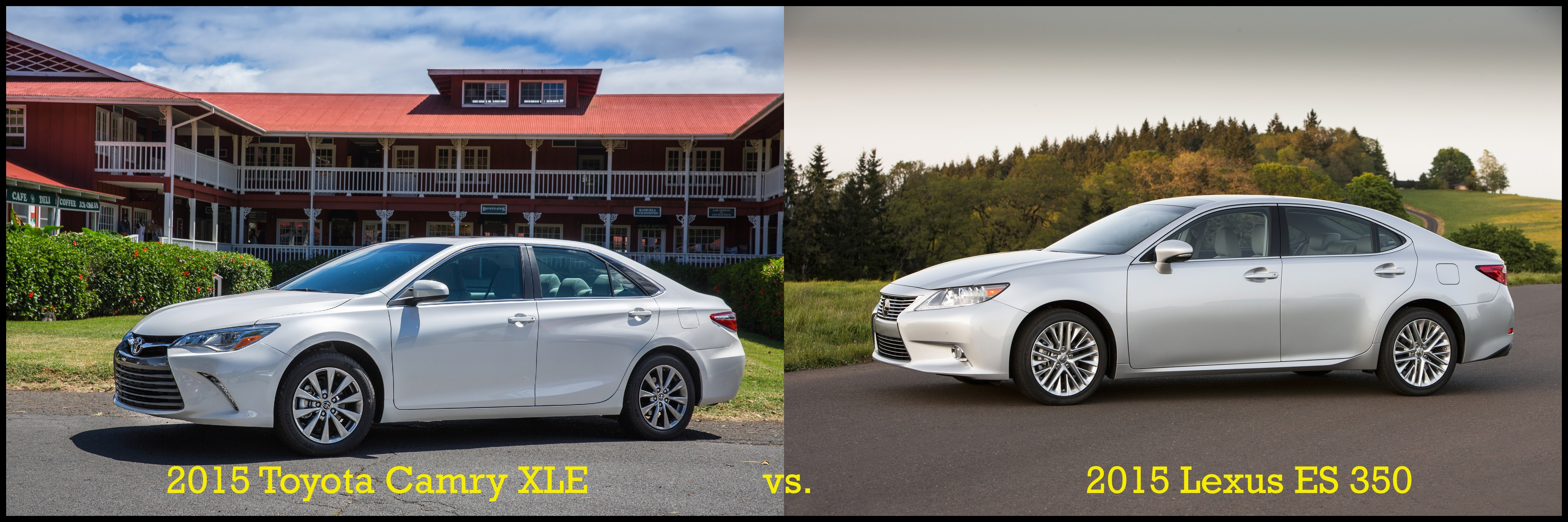 2015 Toyota Camry XLE vs 2015 Lexus ES 350