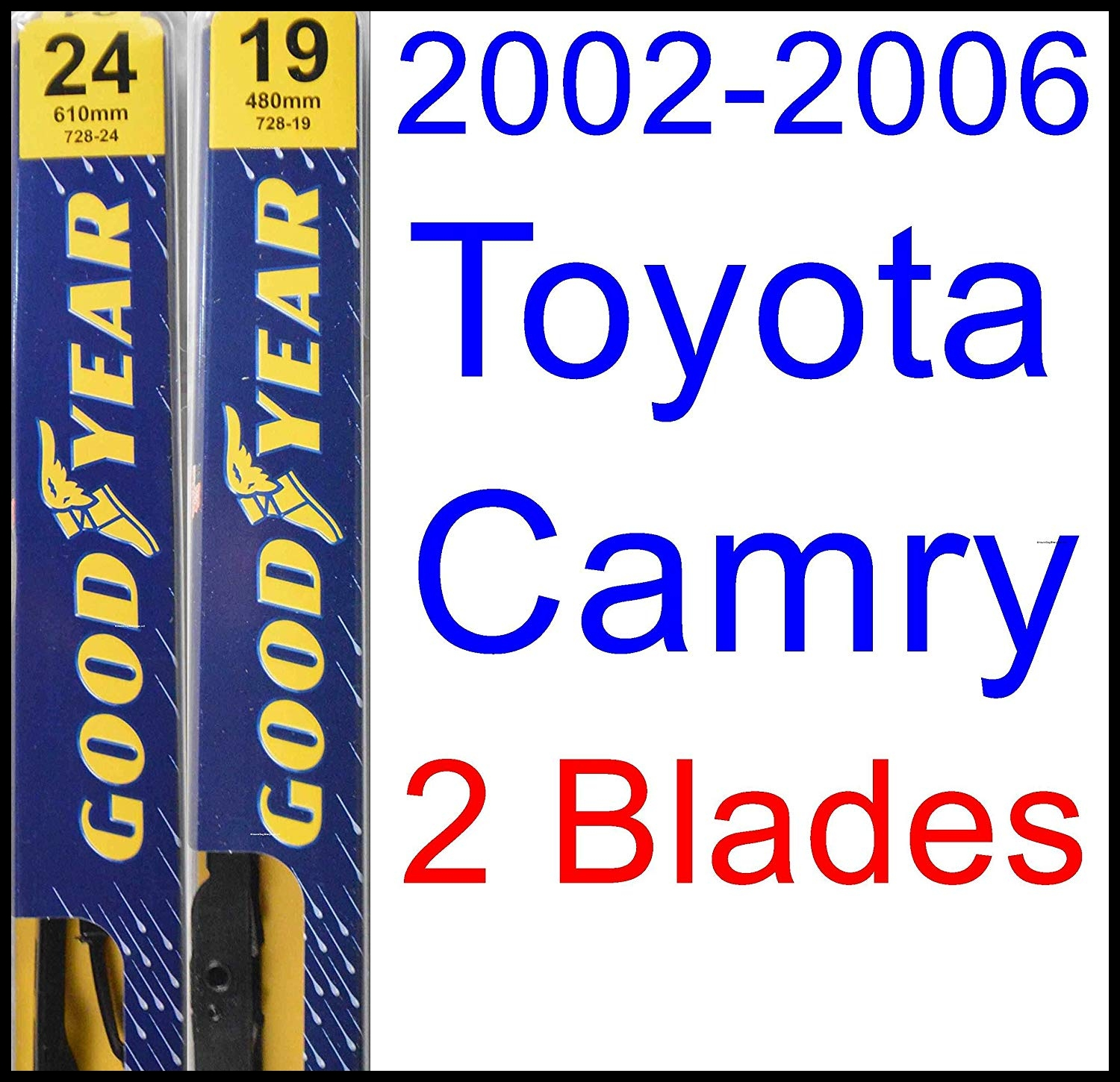 Amazon 2002 2006 Toyota Camry Replacement Wiper Blade Set Kit Set of 2 Blades Goodyear Wiper Blades Premium 2003 2004 2005 Automotive