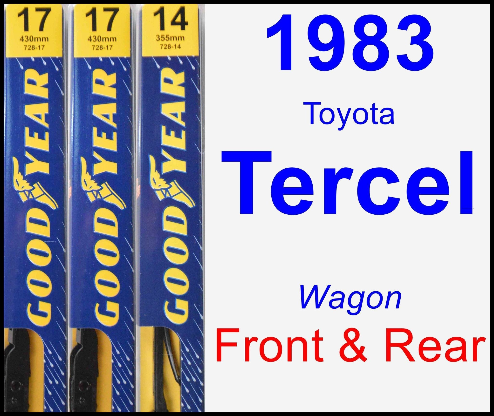 goodyear wiper blades size chart fresh front and rear wiper blade pack for 1983 toyota tercel premium of goodyear wiper blades size chart