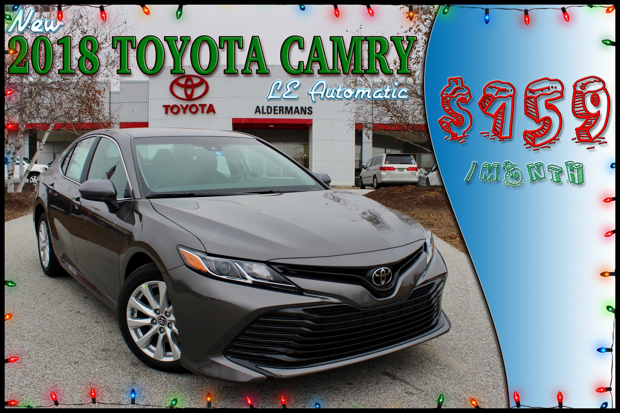 Lease a new 2018 Toyota