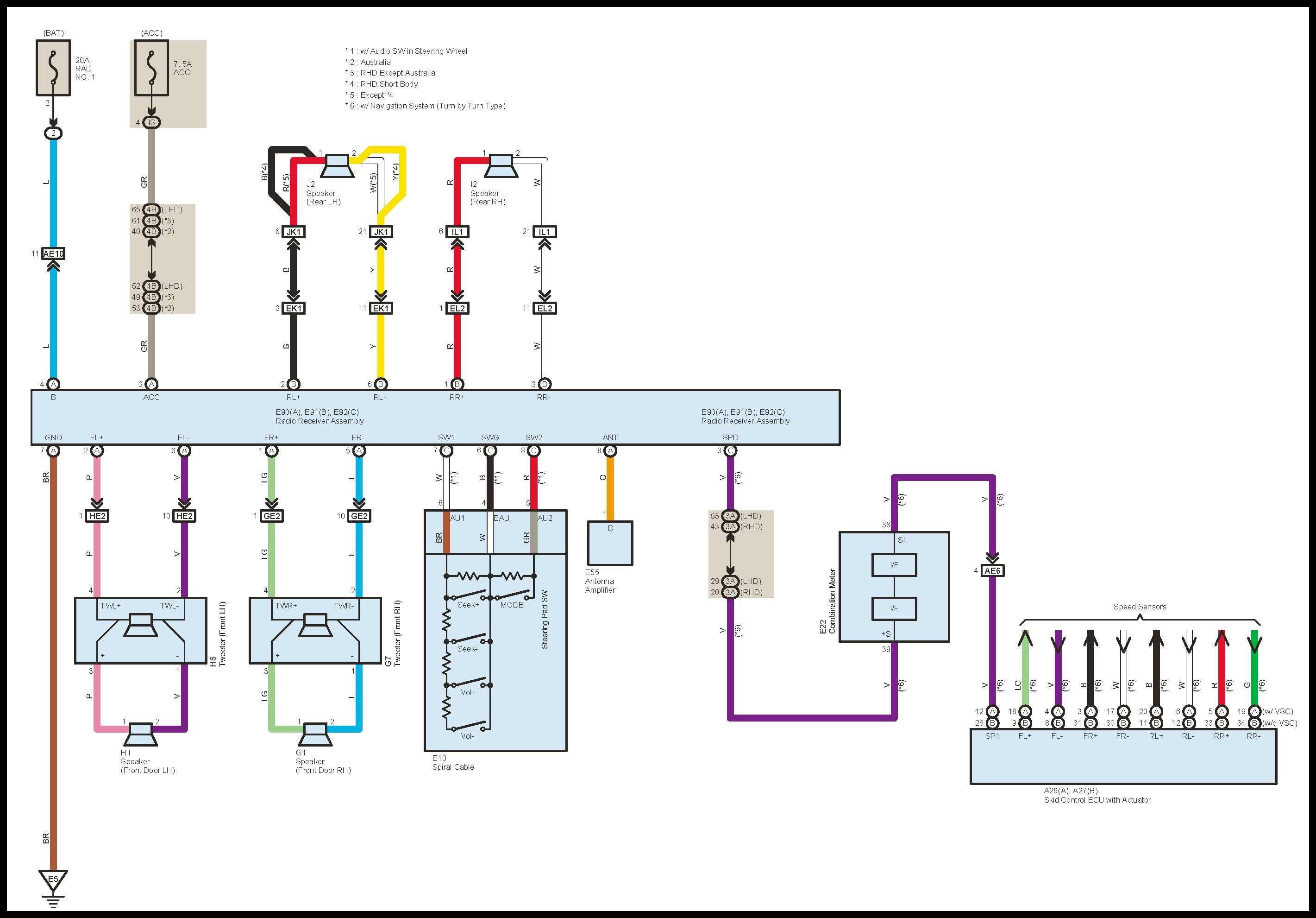 Wiring Diagram For Radio 400 Toyota Rav 40 Wiring Diagrams ...