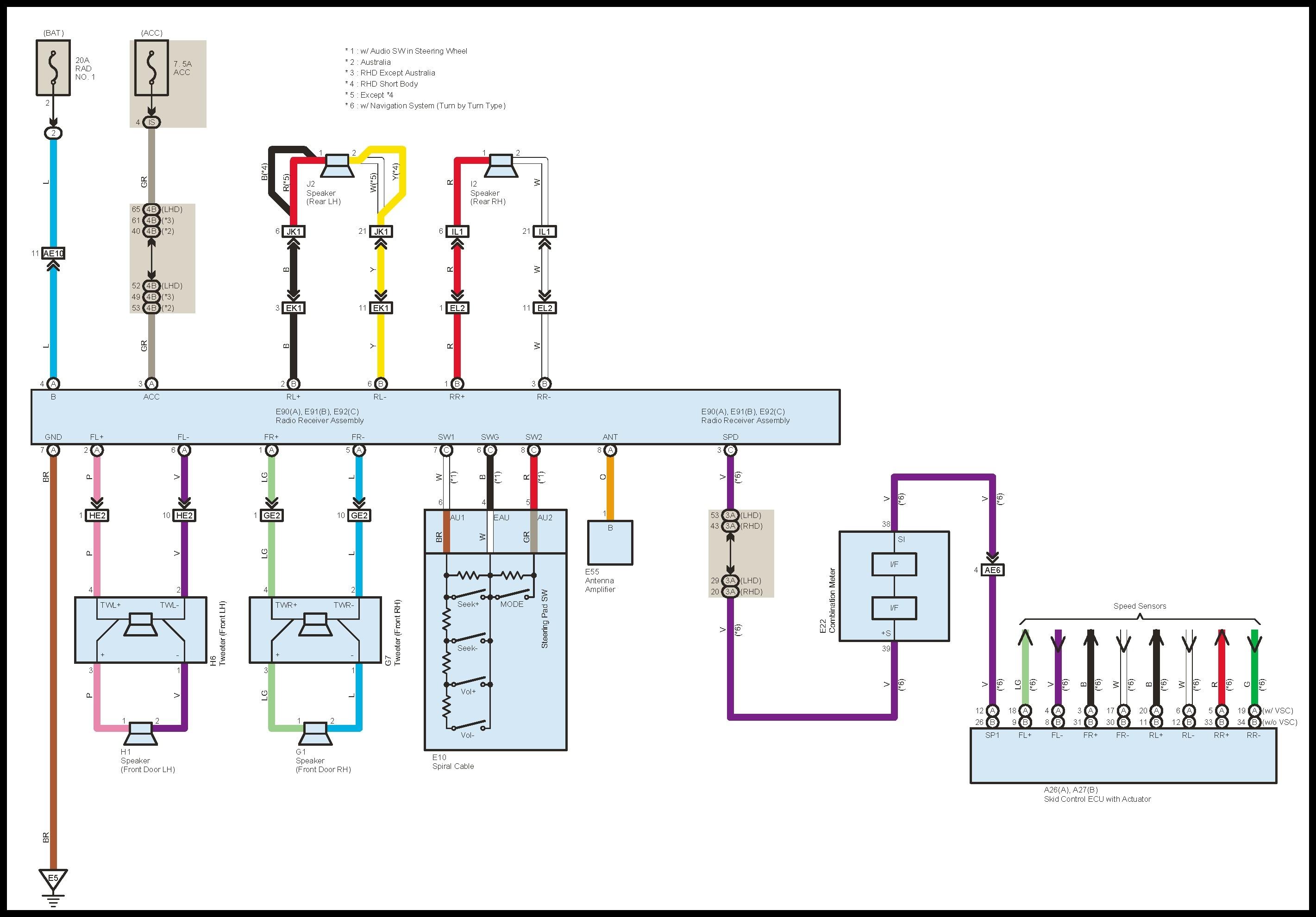 2000 toyota corolla radio wiring diagram hncdesignperu rh hncdesignperu 2004 Toyota RAV4 2005 Toyota RAV4
