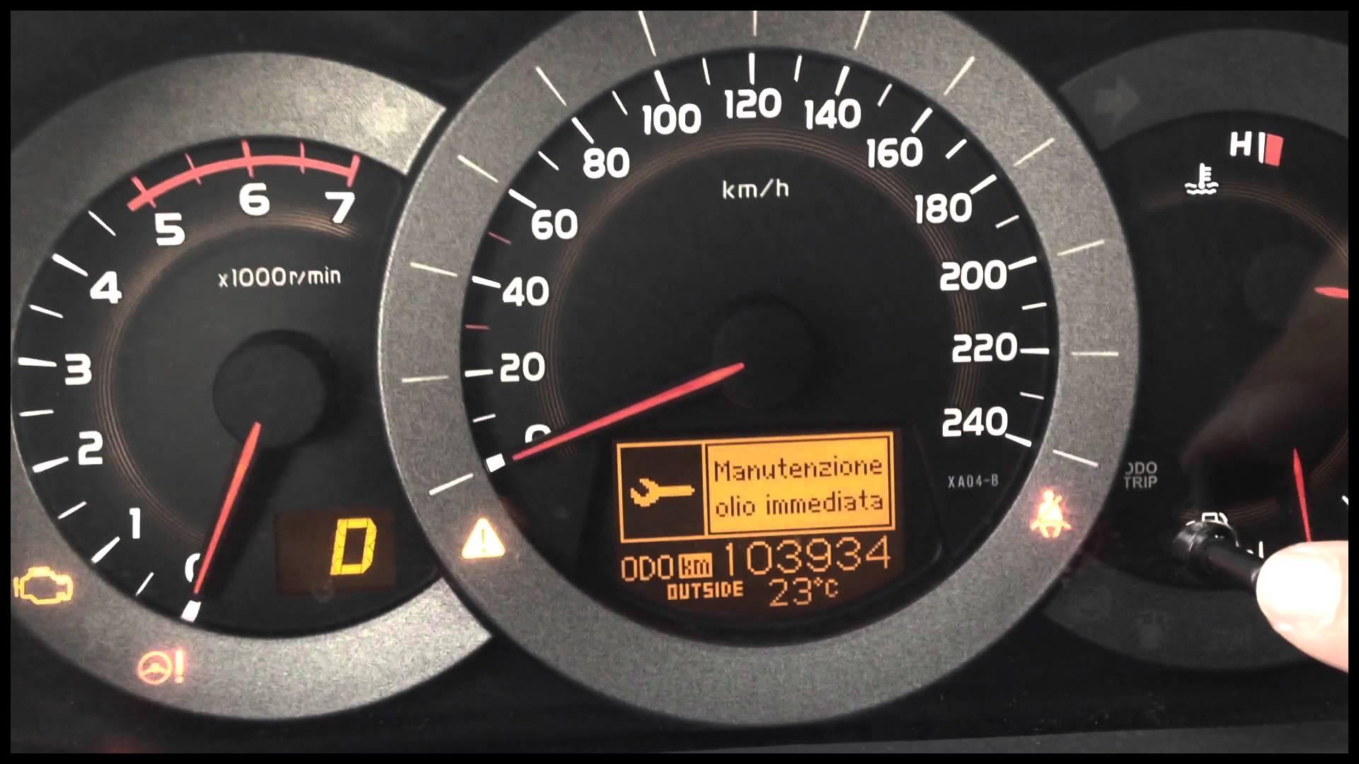 Toyota Rav4 Reset Oil Light