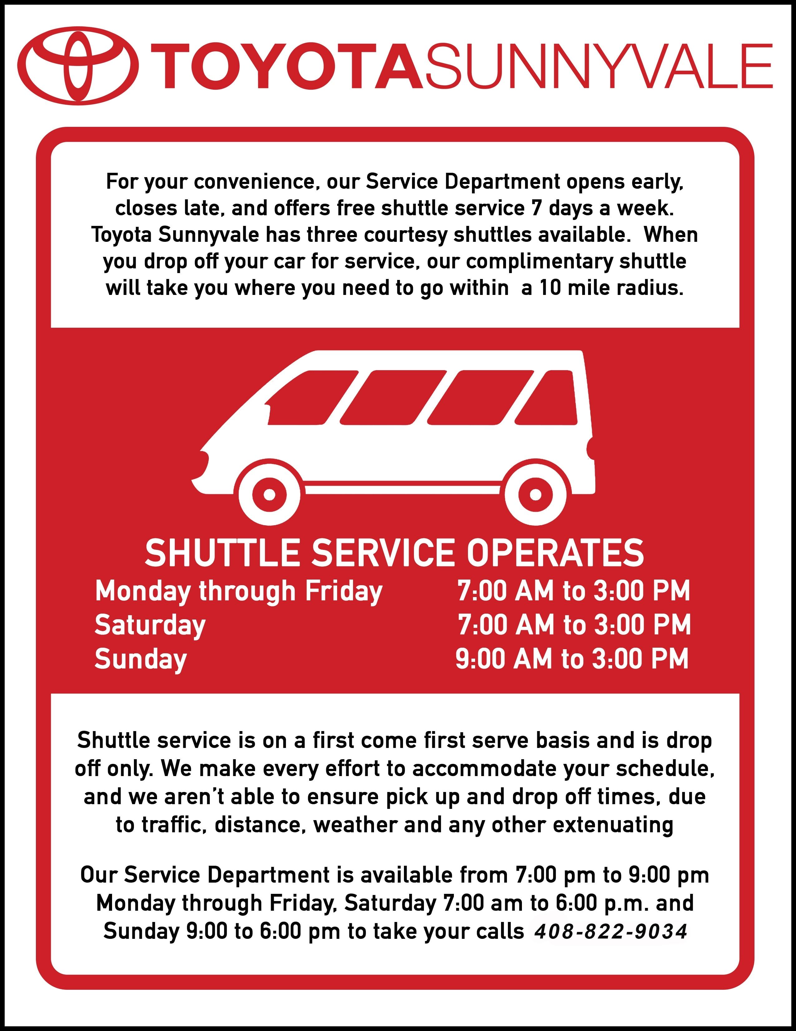 Contact Toyota Sunnyvale