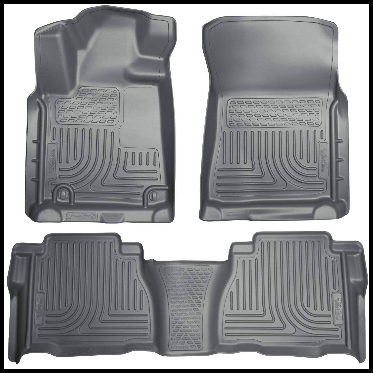 Amazon Husky Liners Front & 2nd Seat Floor Liners Fits 07 11 Tundra CrewMax Double Cab Automotive
