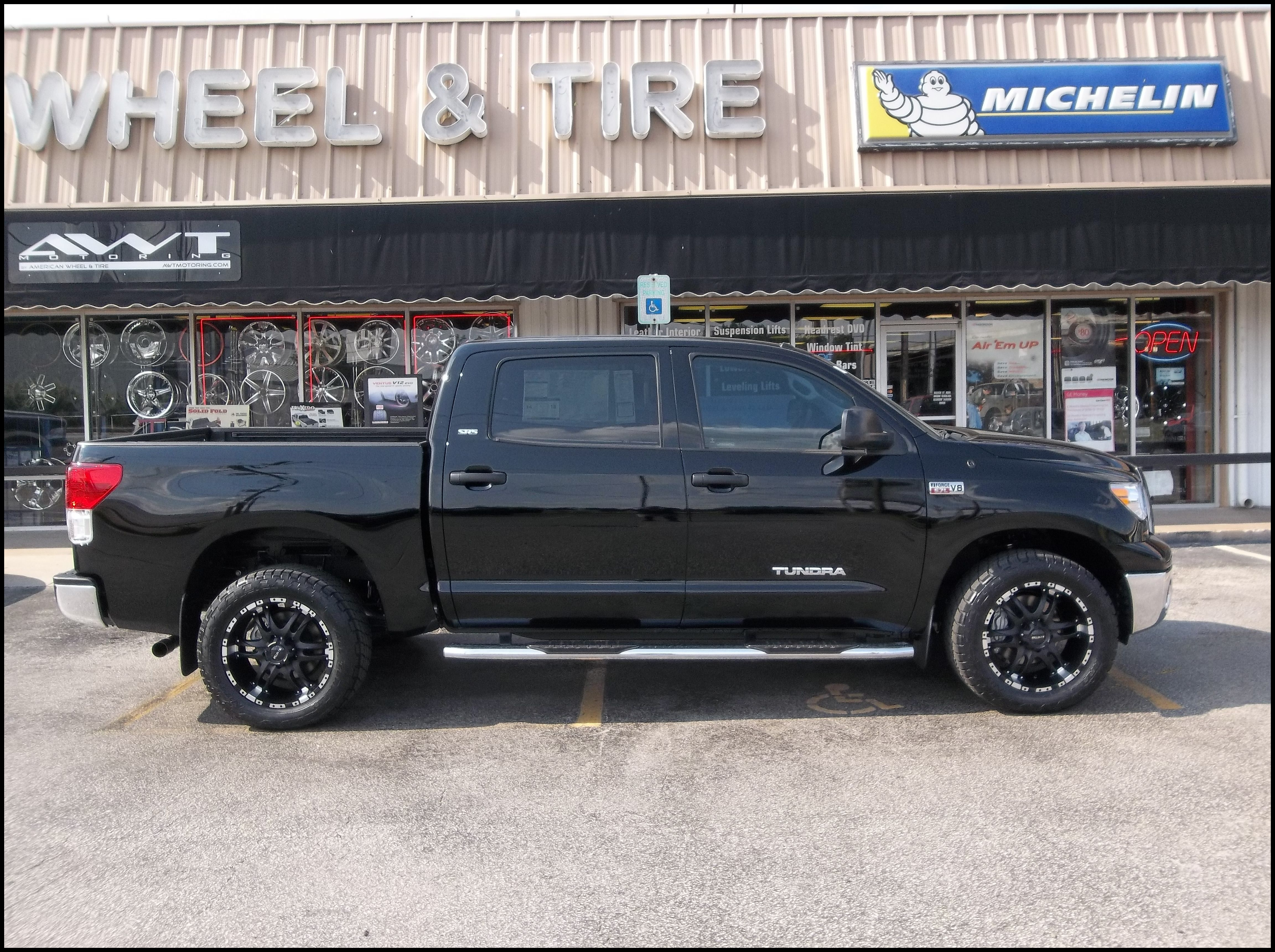 Lifted Toyota Tundra with Black Rims Find the Classic Rims of Your Dreams