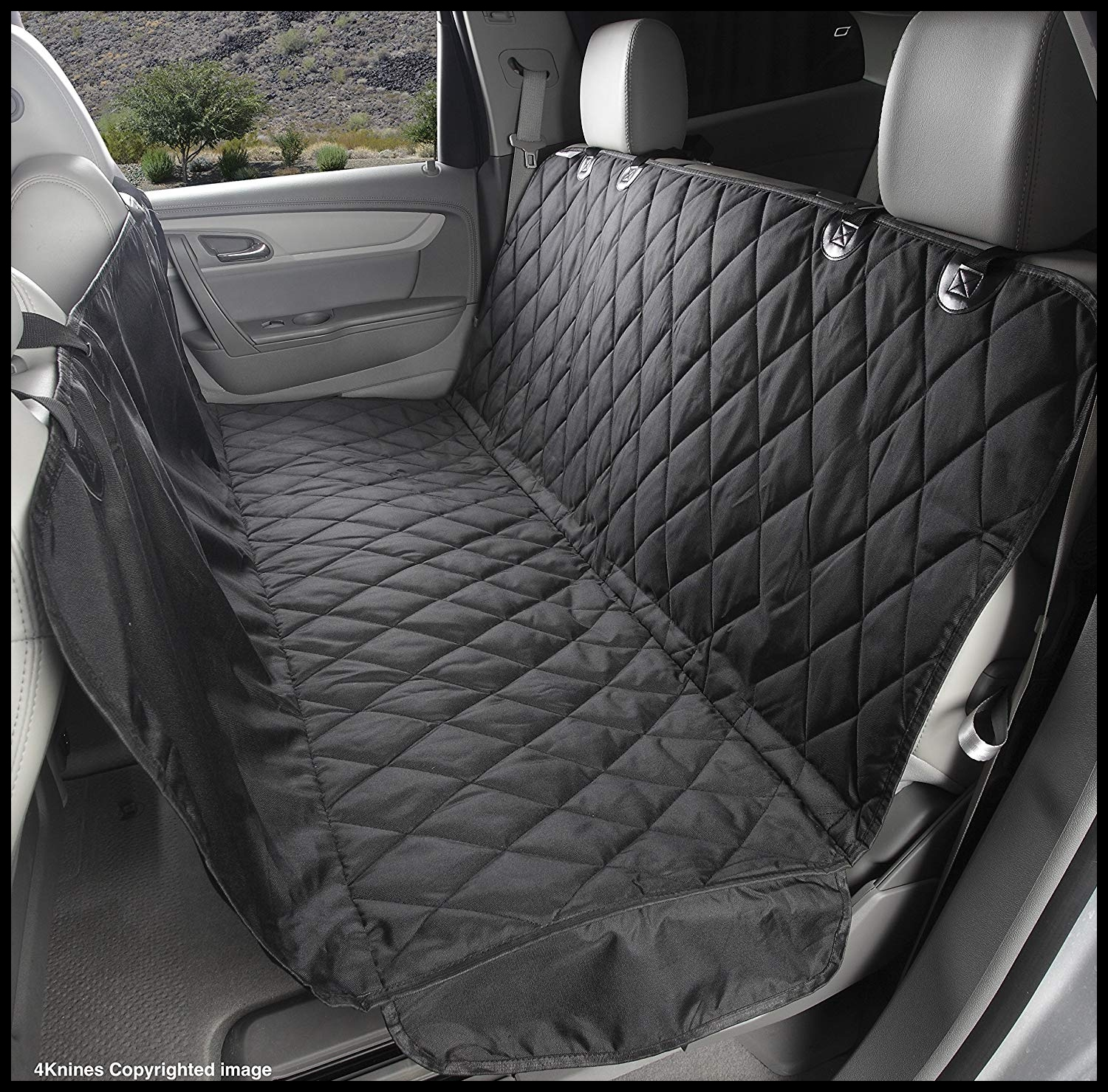4Knines Rear Bench Seat Waterproof Non Slip Cover with Hammock Lifetime Warranty Extra Black Amazon Pet Supplies