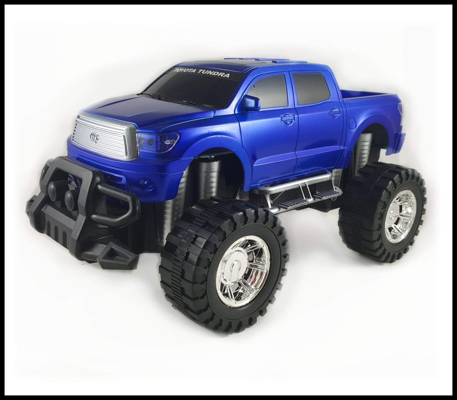 Amazon f Road Friction Powered Toyota Tundra Toy Truck Toy car with big wheels Blue Toys & Games