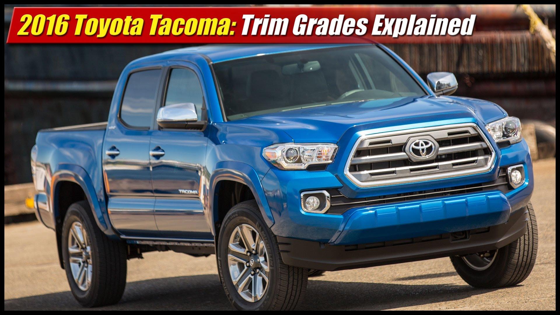 2016 Toyota Ta a Trim Grades Explained