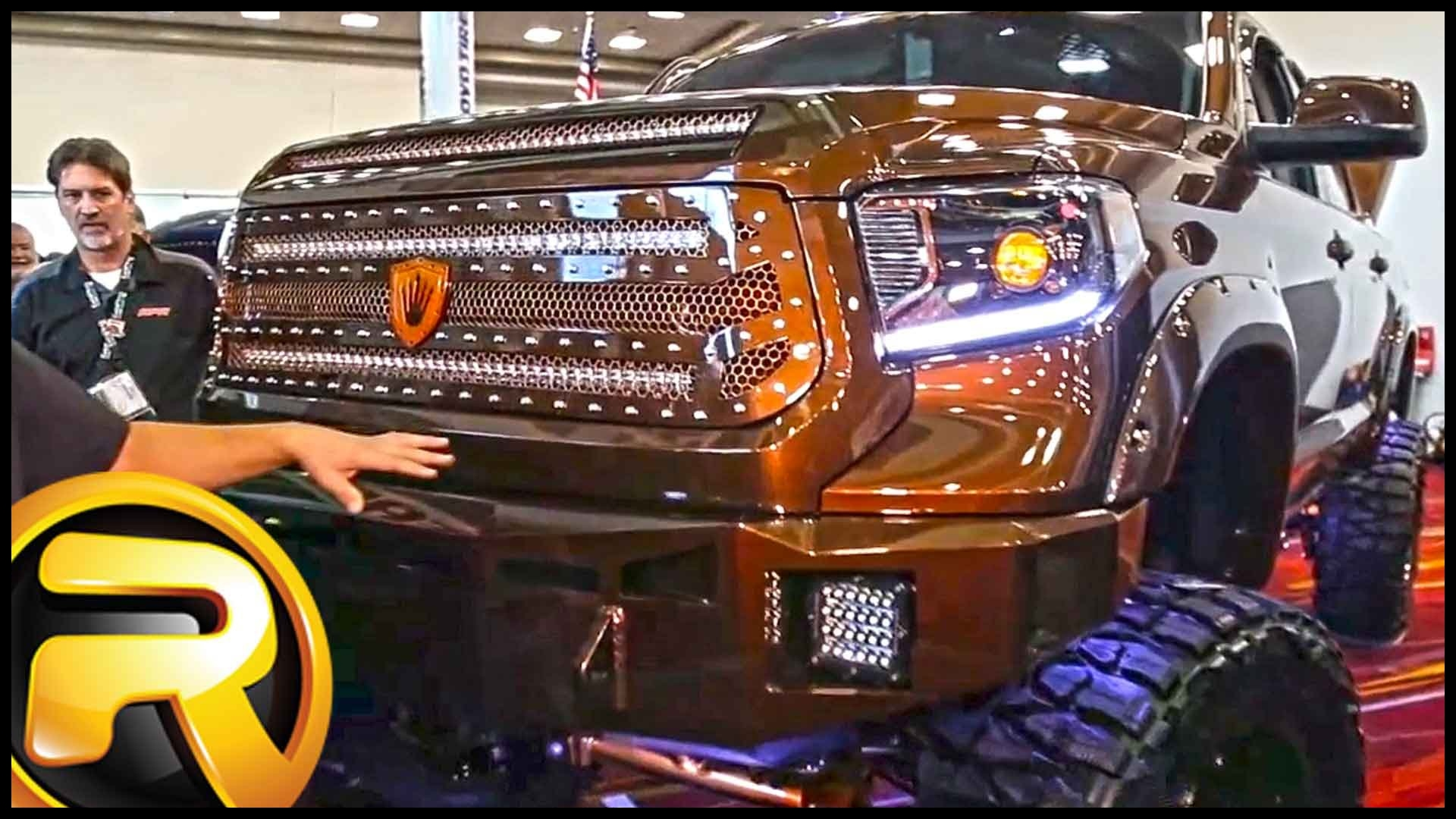 Custom 2015 Toyota Tundra Truck with Bully Dog Chip and MBRP Exhaust SEMA
