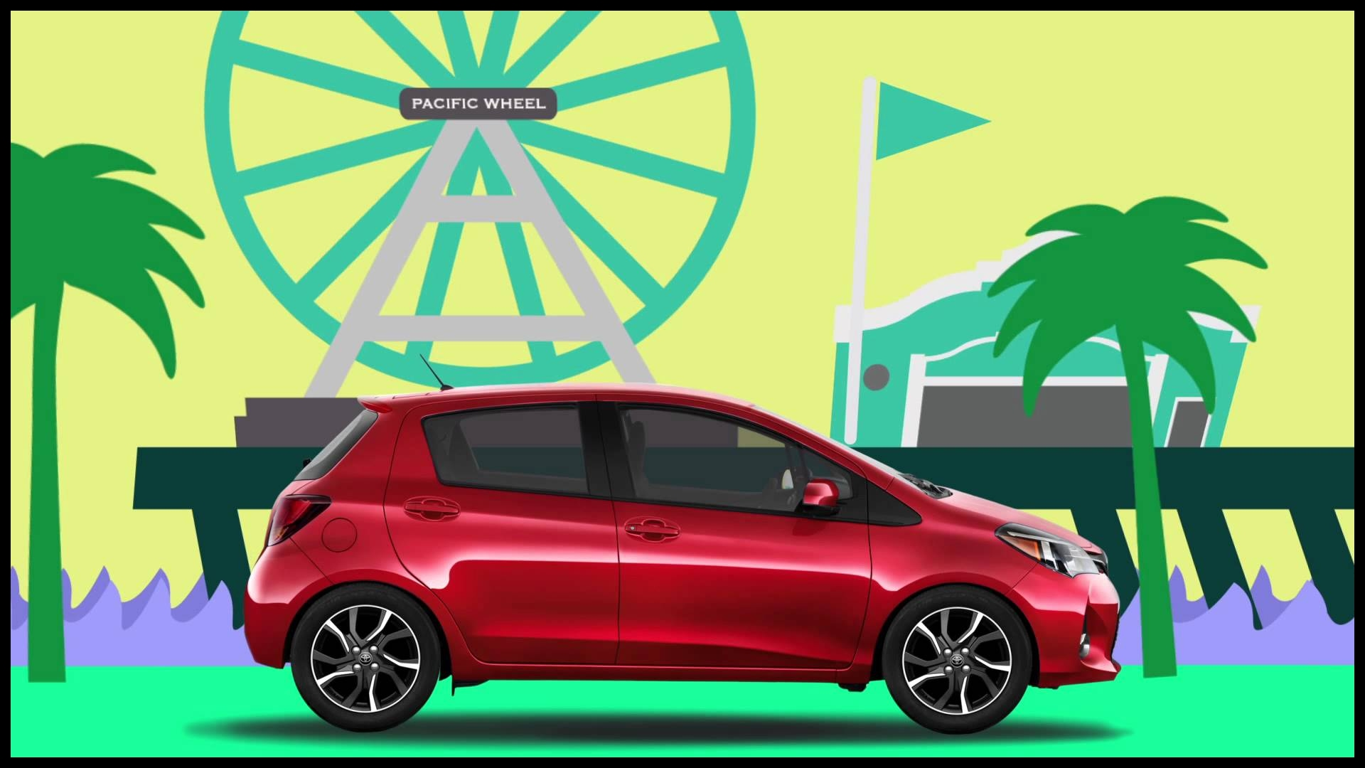 Animated Toyota Yaris mercial