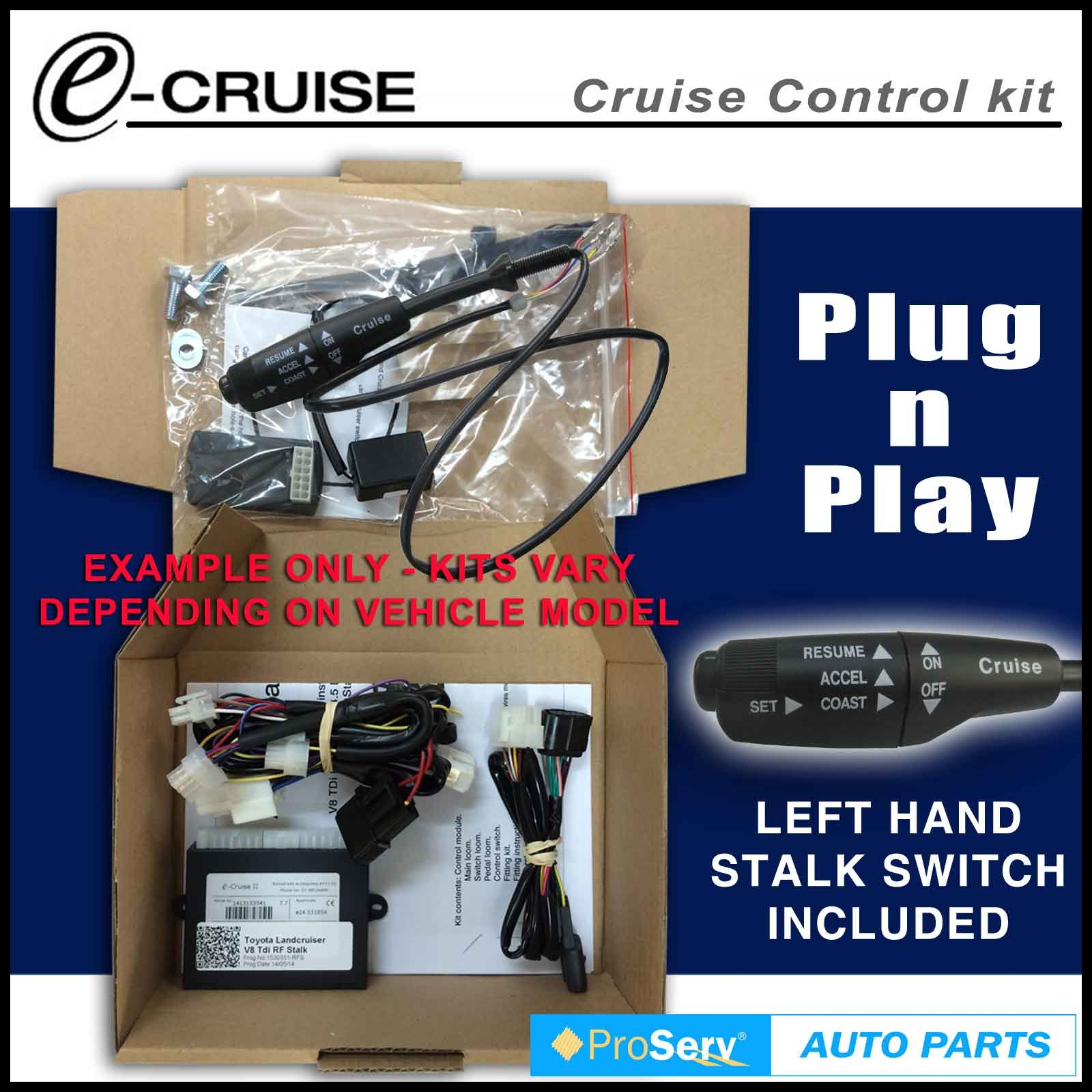 Cruise Control Kit FITS TOYOTA Yaris Sedan SEP 2011 ON With LH Stalk control switch e Cruise