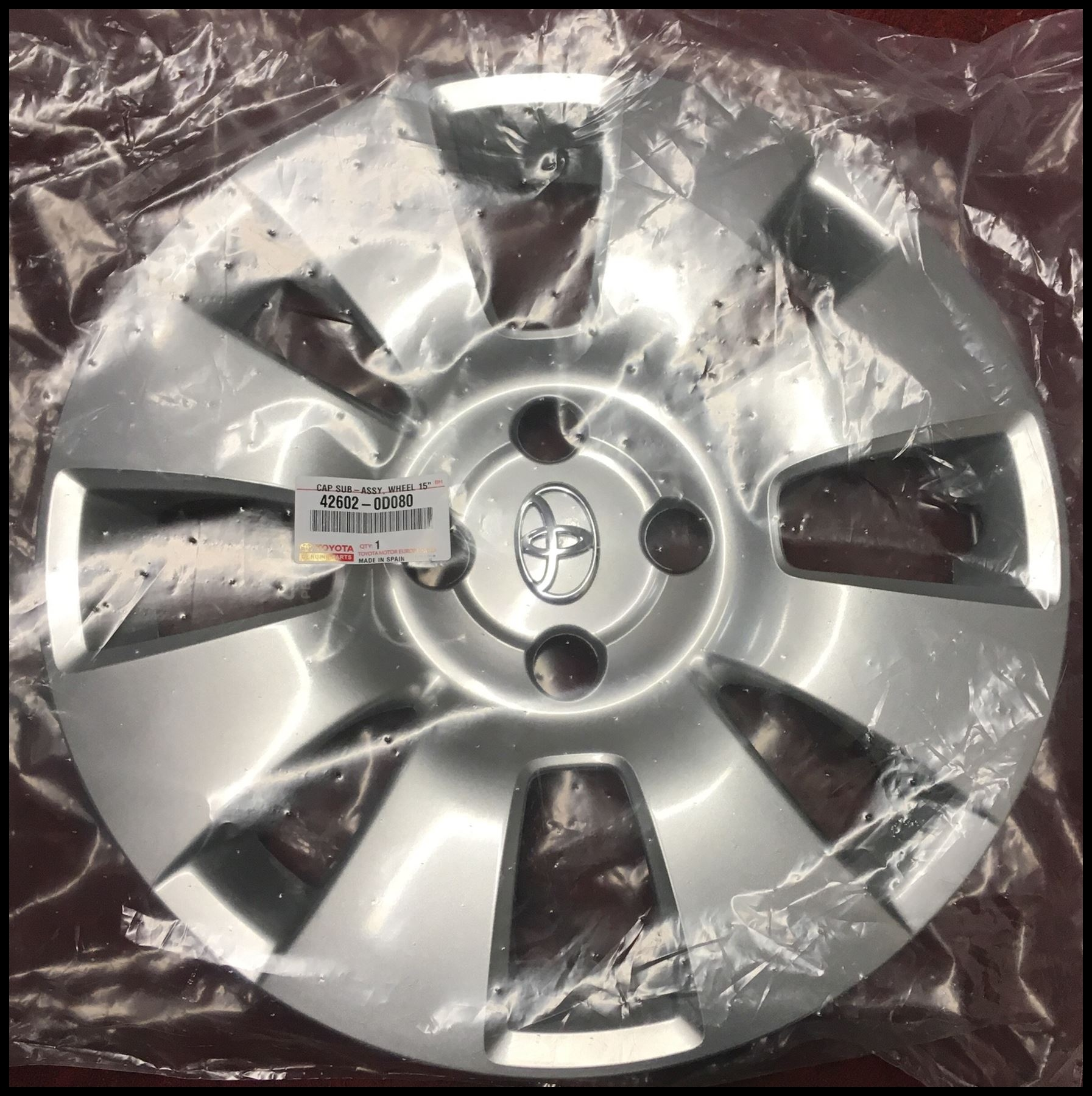 Genuine Toyota Yaris 2005 2011 15inch Wheel Trim 0D080