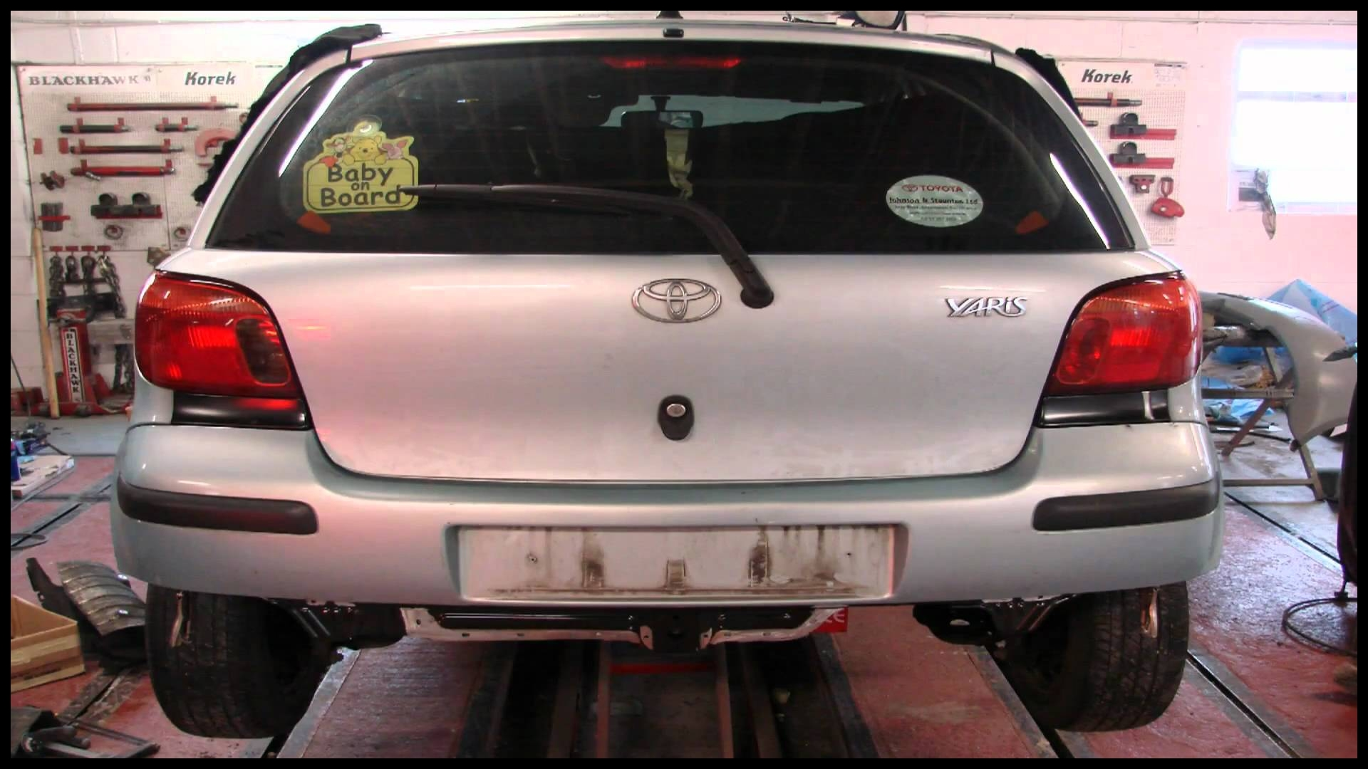 BACK PANEL REPLACEMENT TOYOTA YARIS