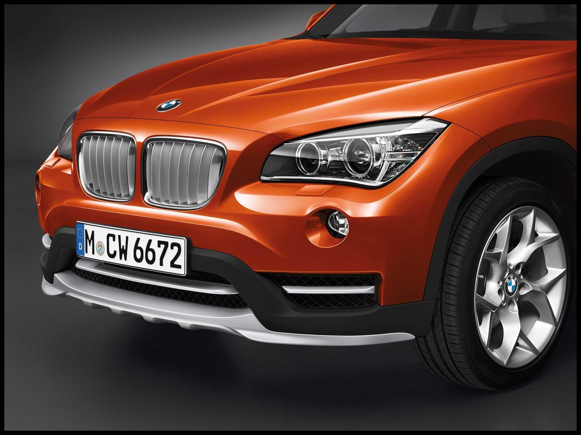 BMW X1 xDrive25d Valencia Orange metallic Light alloy wheels Y spoke 322 xLine 12 2013