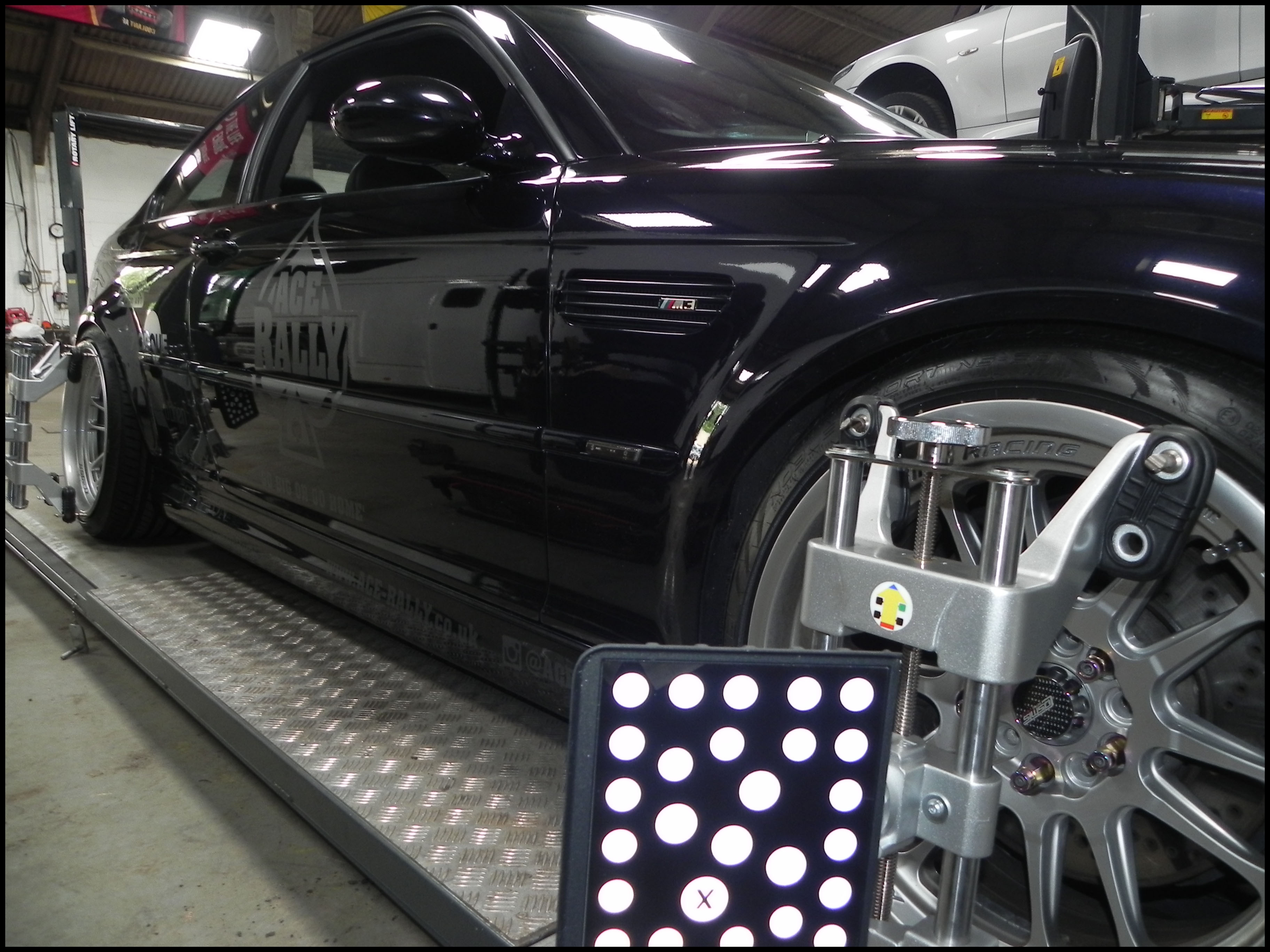 BMW M3 Wheel Alignment Side at STR Service Centre Norwich