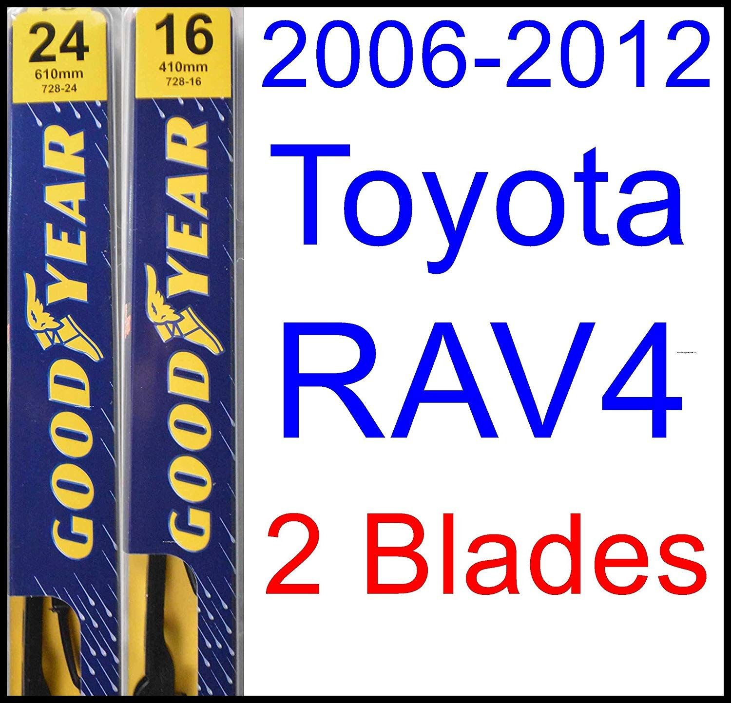 Amazon 2006 2012 Toyota RAV4 Replacement Wiper Blade Set Kit Set of 3 Blades Goodyear Wiper Blades Premium 2007 2008 2009 2010 2011 Automotive